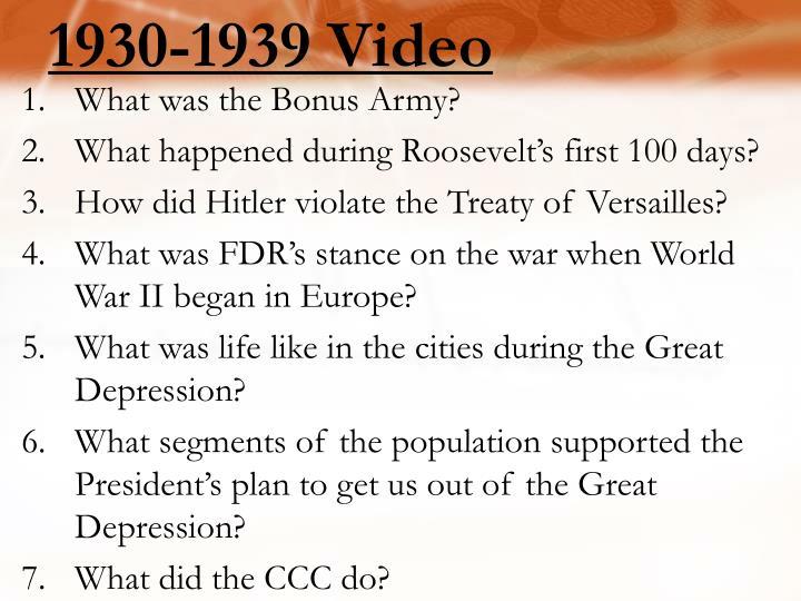 1930-1939 Video