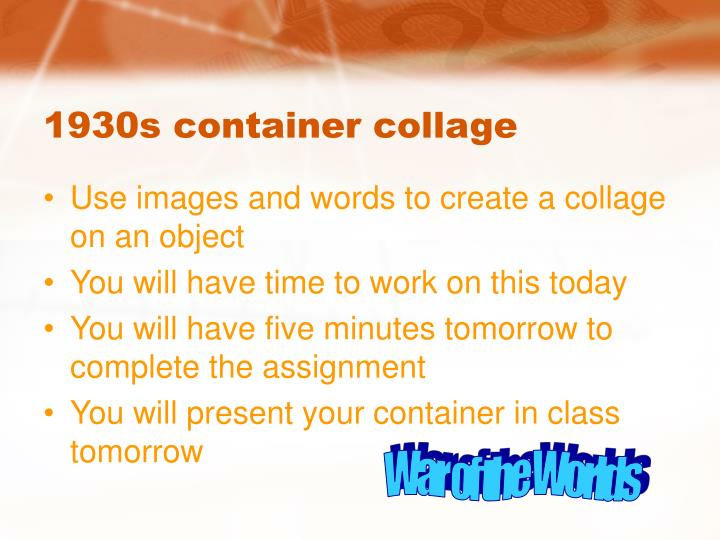 1930s container collage