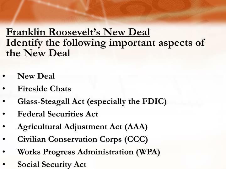 Franklin Roosevelt's New Deal