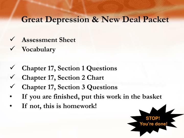 Great Depression & New Deal Packet