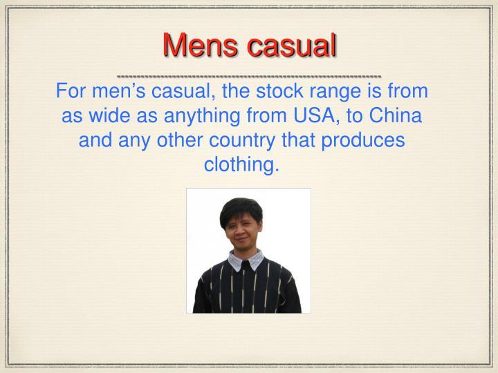 Mens casual