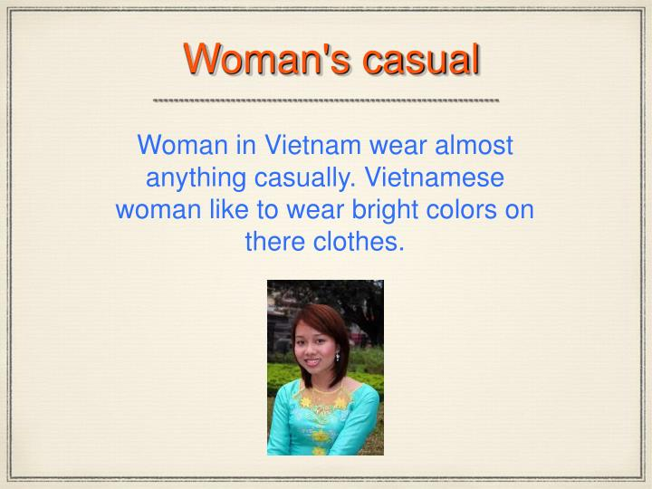 Woman's casual