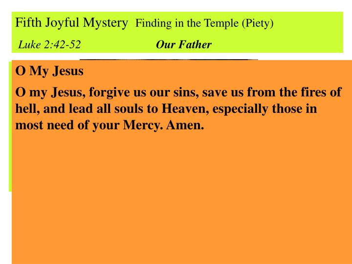 Fifth Joyful Mystery
