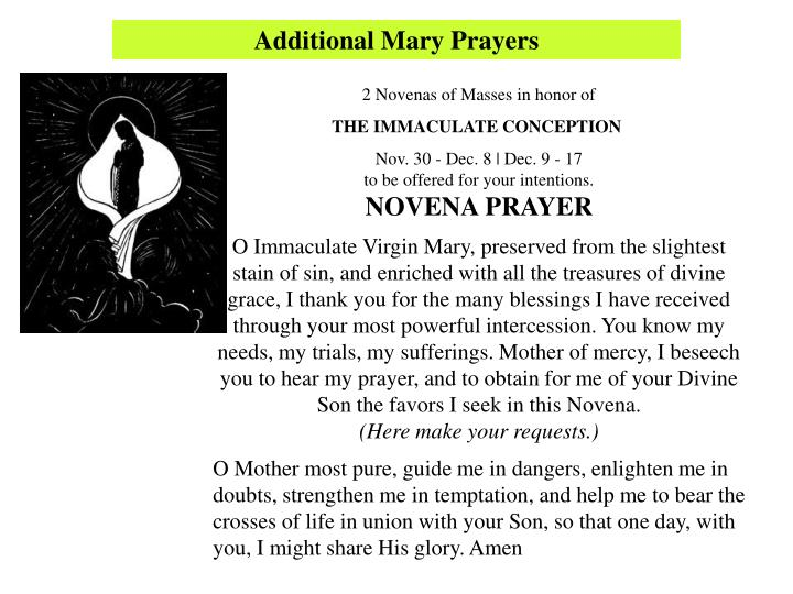Additional Mary Prayers