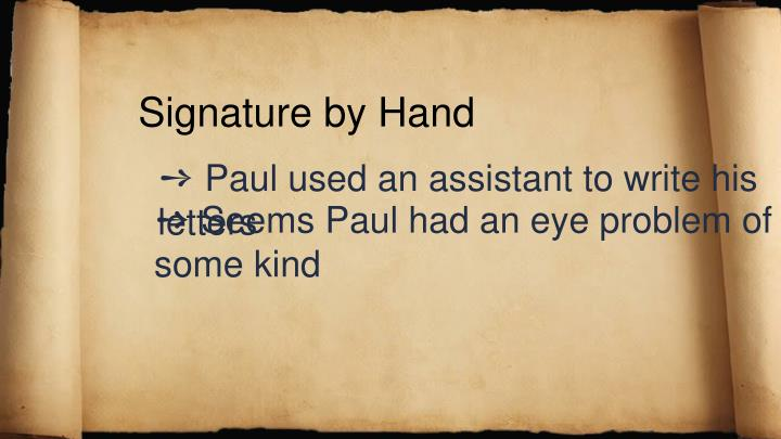 Signature by Hand