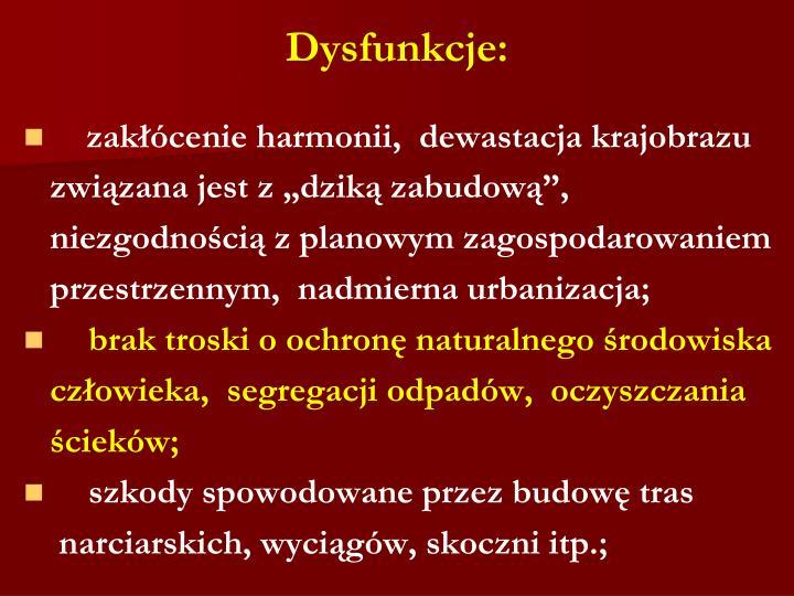 Dysfunkcje: