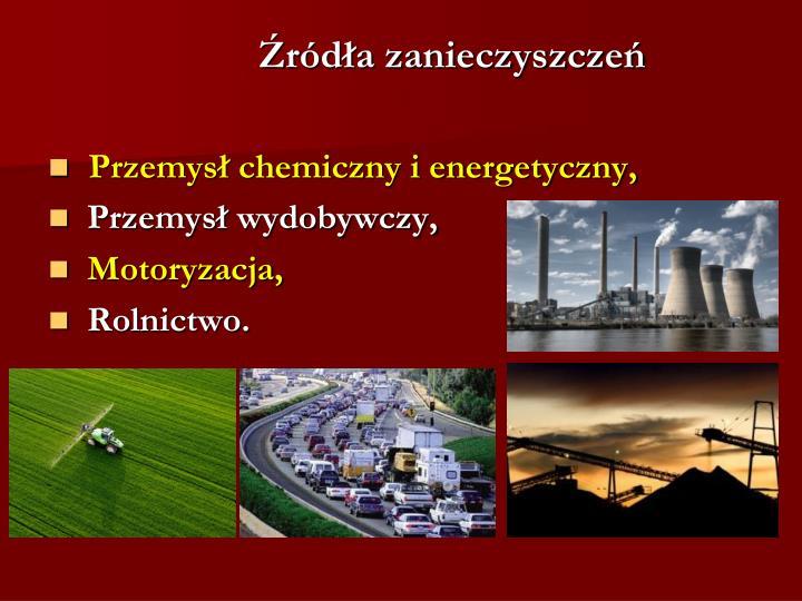 Źródła zanieczyszczeń