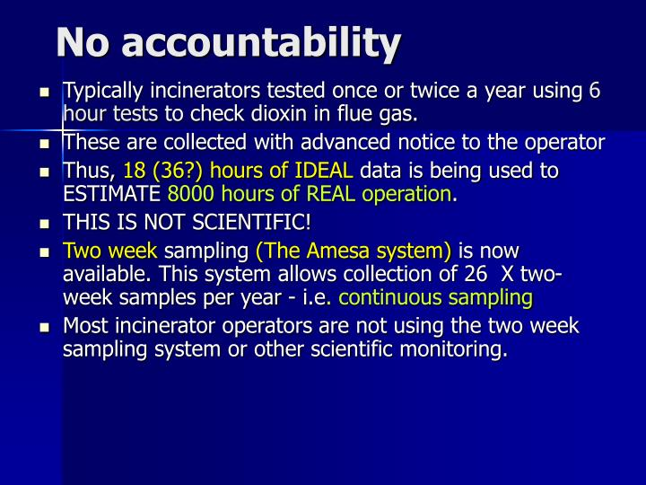 No accountability
