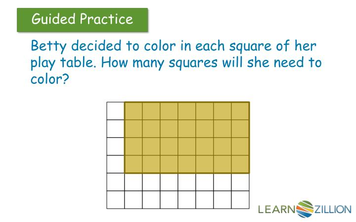 Betty decided to color in each square of her play table. How many squares will she need to color?
