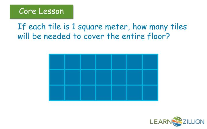 If each tile is 1 square meter, how many tiles will be needed to cover the entire floor?