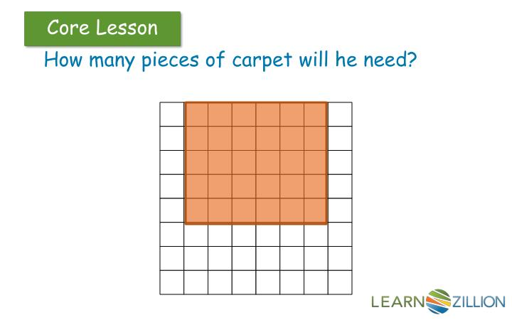 How many pieces of carpet will he need?