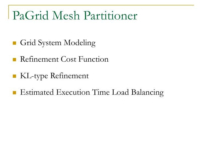 PaGrid Mesh Partitioner