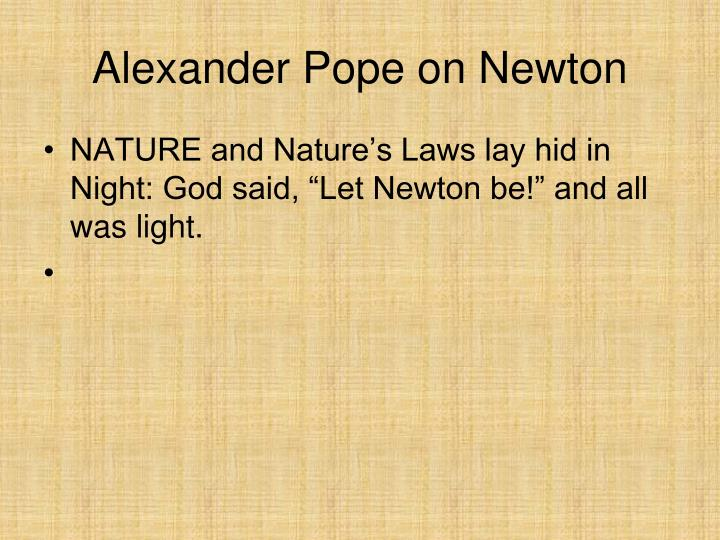 Alexander pope on newton