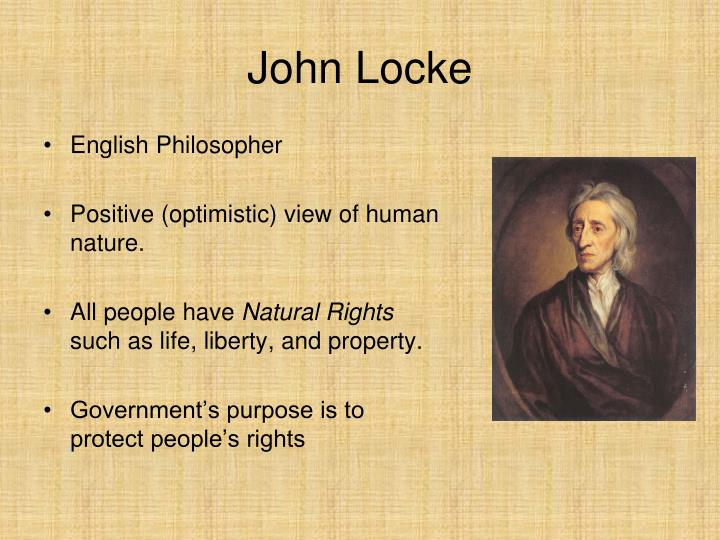 John Locke S View On Human Nature