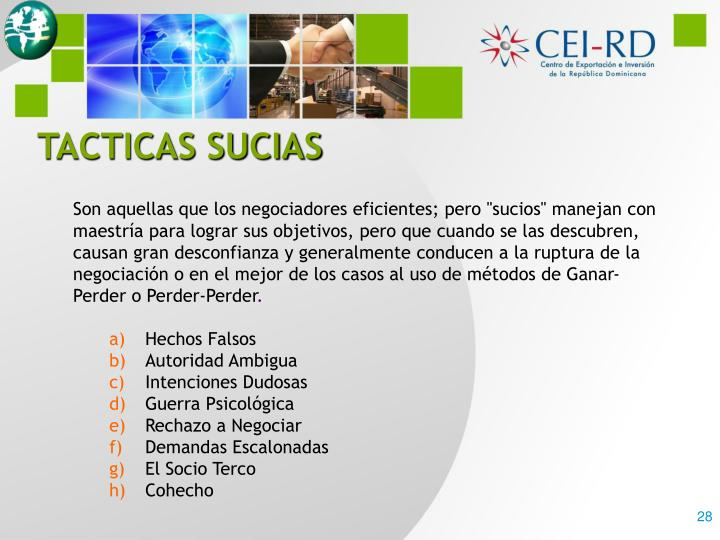TACTICAS SUCIAS