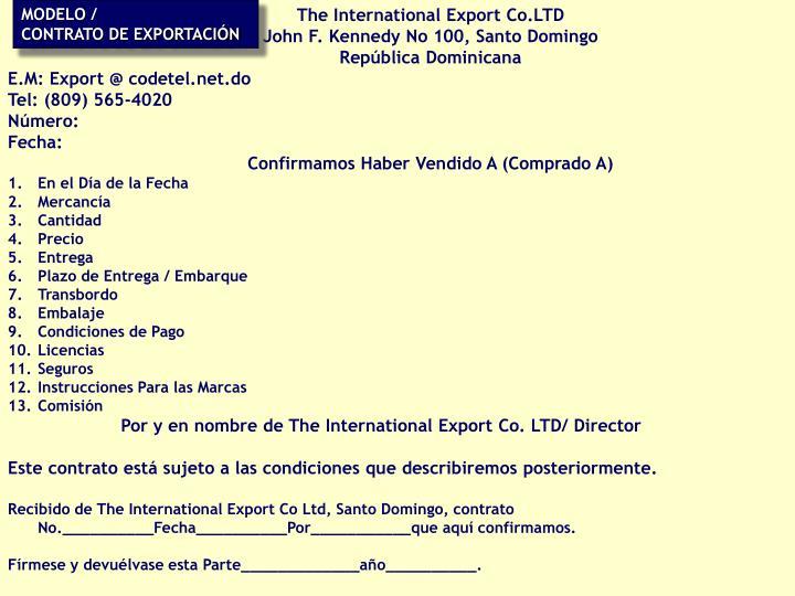 The International Export Co.LTD
