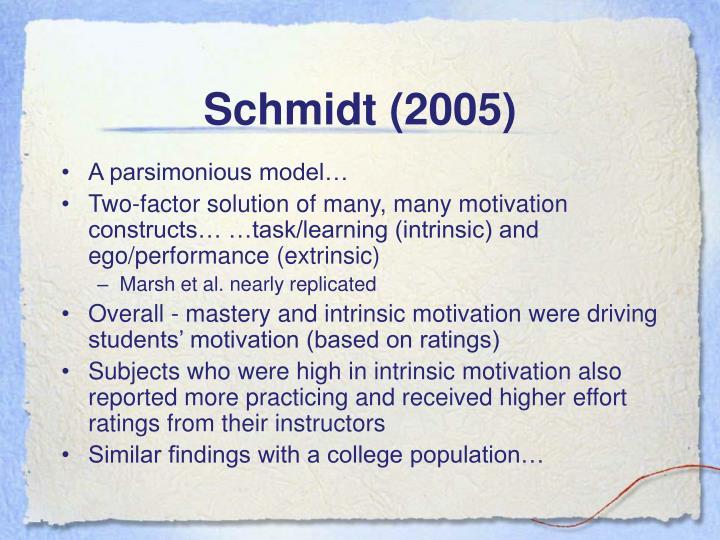 Schmidt (2005)