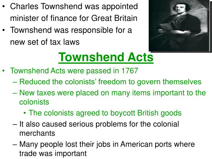 Charles Townshend was appointed