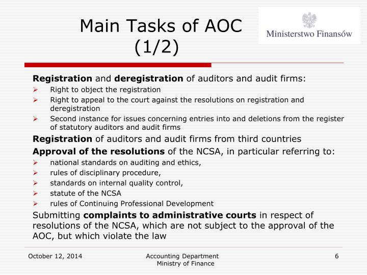 Main Tasks of AOC