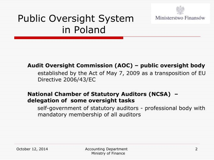 Public oversight system in poland1