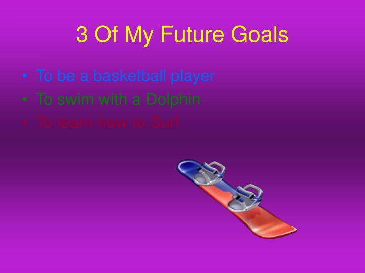 3 Of My Future Goals