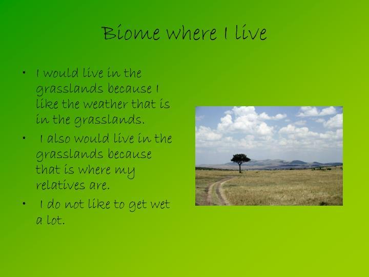 Biome where I live