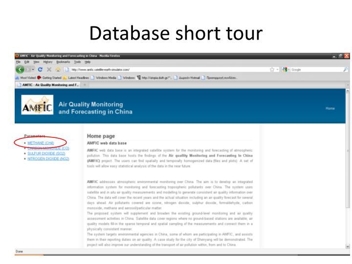 Database short tour