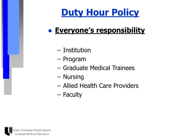 Duty Hour Policy