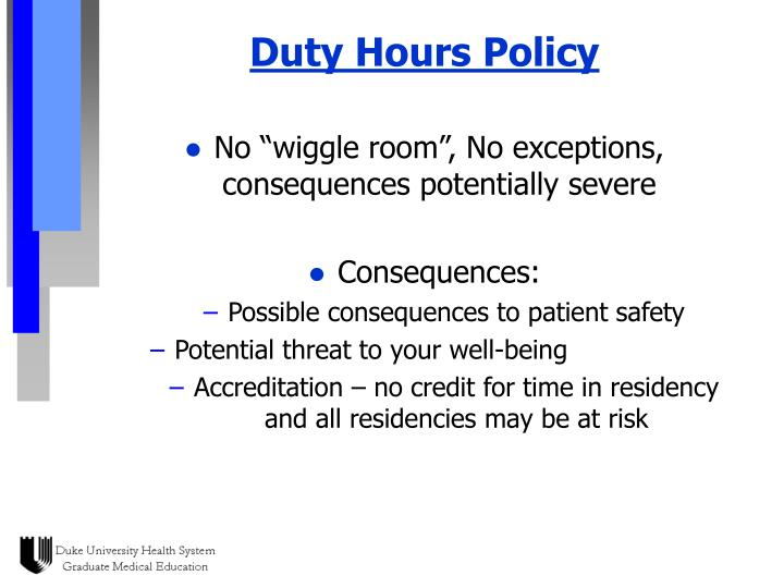 Duty Hours Policy