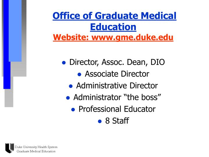 Office of Graduate Medical Education