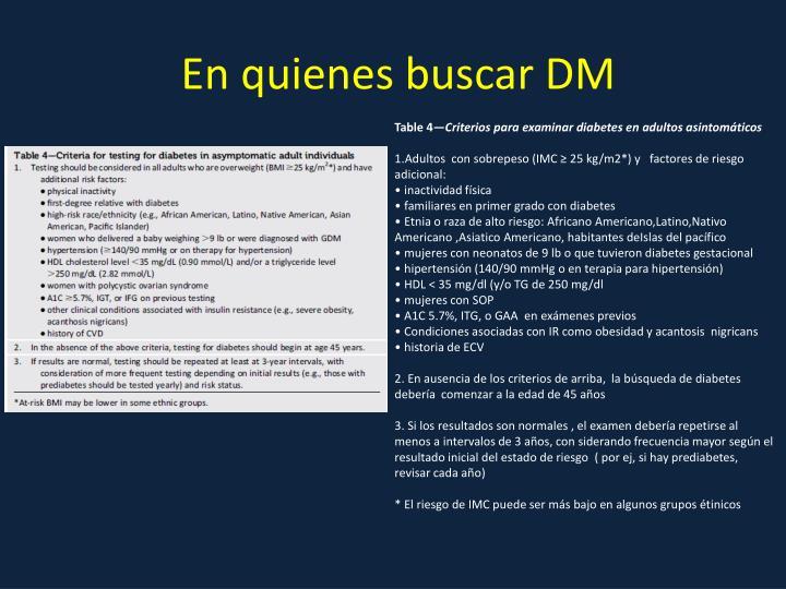 En quienes buscar DM
