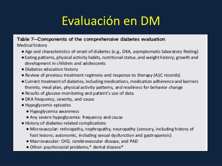 Evaluación en DM