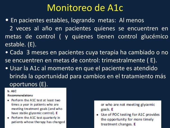 Monitoreo de A1c