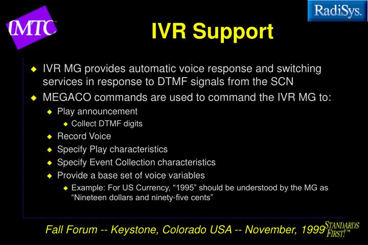 IVR Support