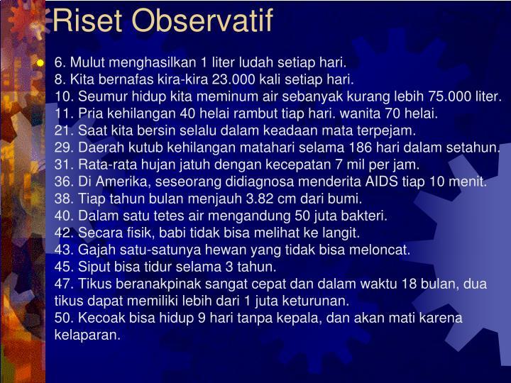 Riset Observatif
