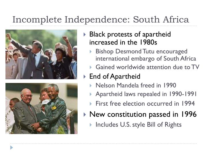 Black protests of apartheid increased in the 1980s