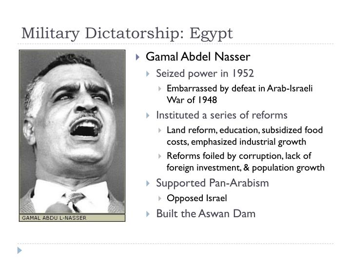 Military Dictatorship: Egypt