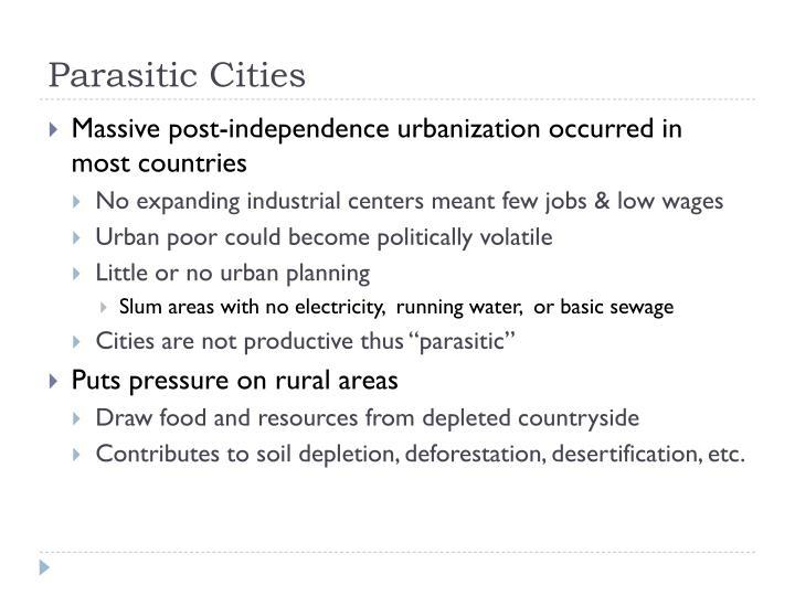 Parasitic Cities