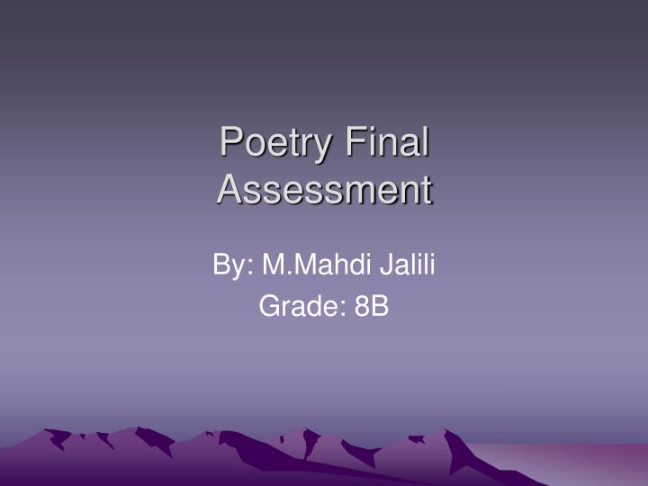 Poetry Final