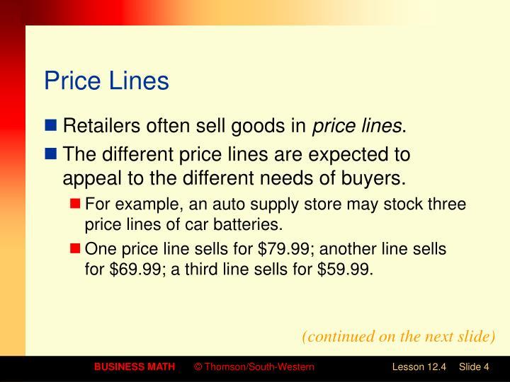 Price Lines