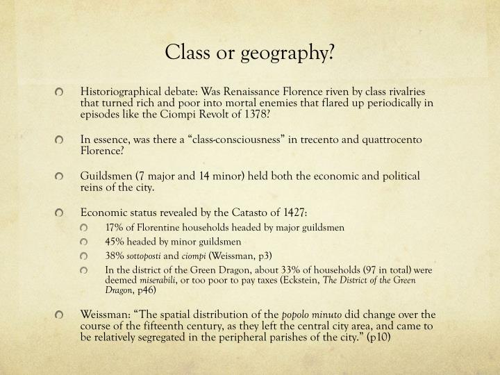 Class or geography?