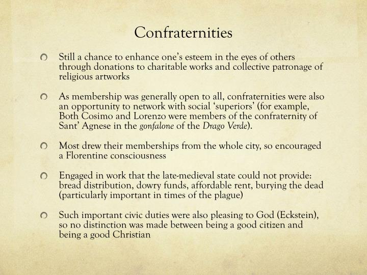 Confraternities