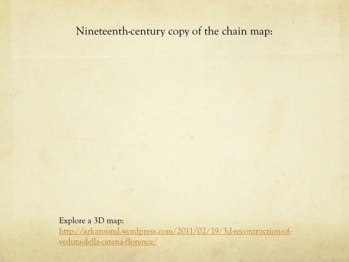 Nineteenth-century copy of the chain map: