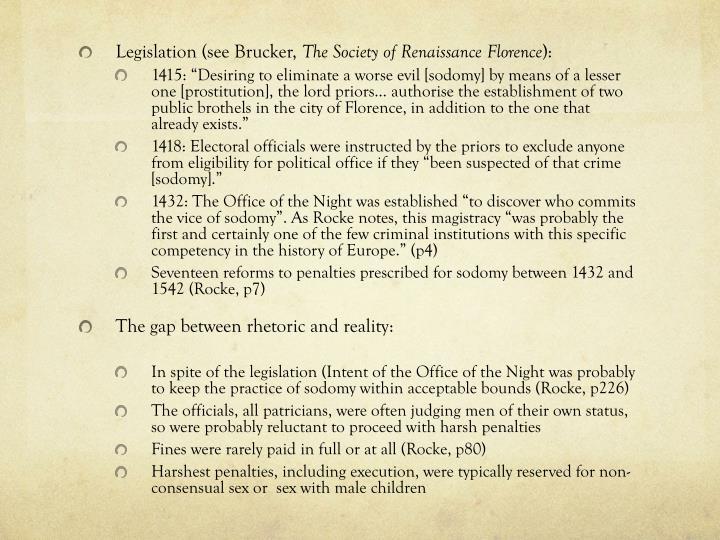 Legislation (see