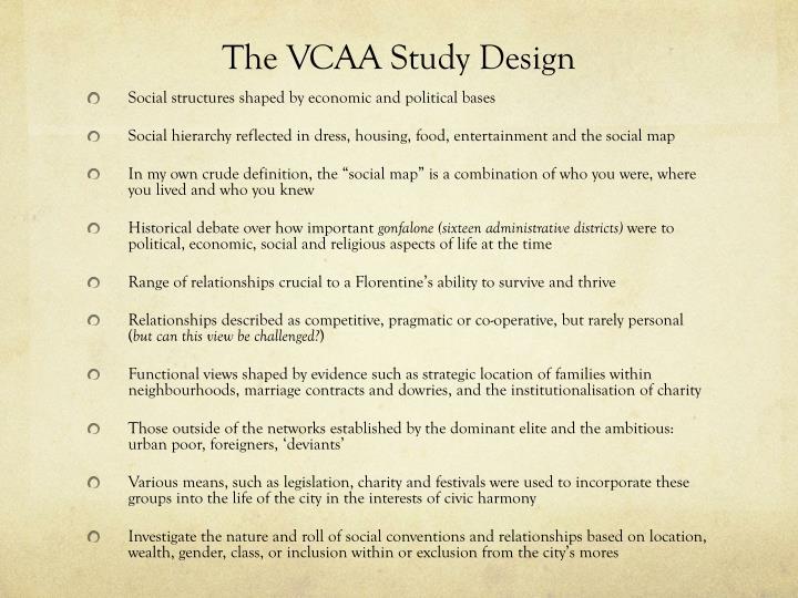 The VCAA Study Design