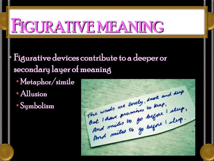 Figurative meaning