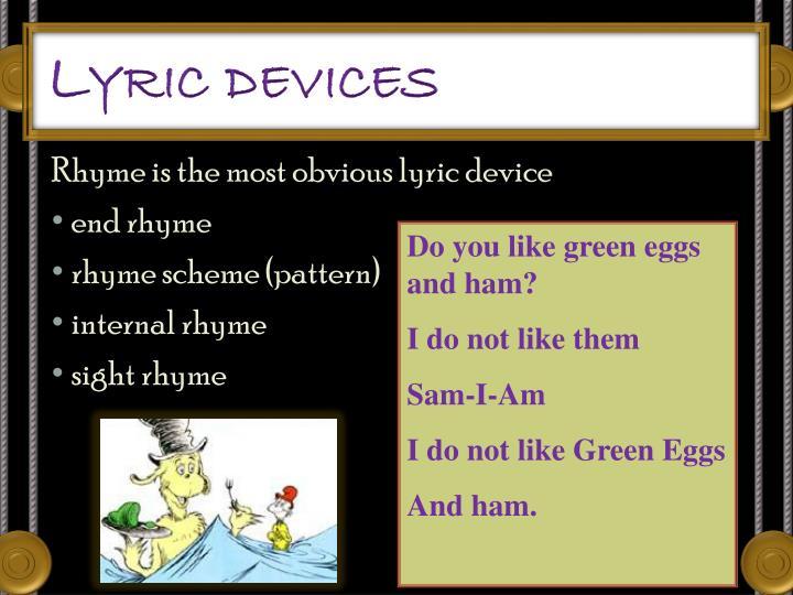 Lyric devices
