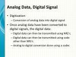 analog data digital signal