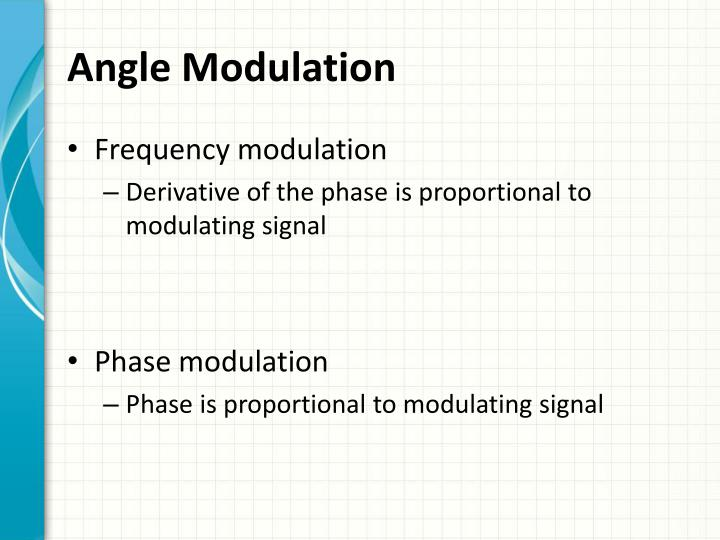 Angle Modulation
