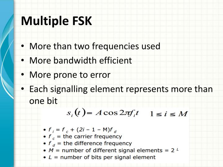 Multiple FSK